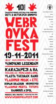 Plakát Webrovkafest 2011