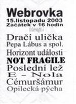 Plakát Webrovkafest 2003