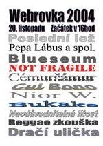 Plakát Webrovkafest 2004