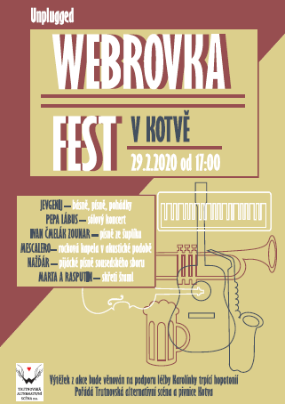 Plakát Webrovkafest Kotva 2020